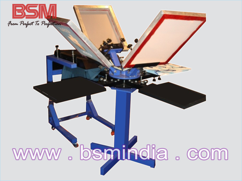 Manual Screen Printing Machine 4 6 8 Station